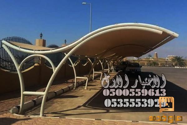 عمل مظلات كابولي للسيارات حكومية